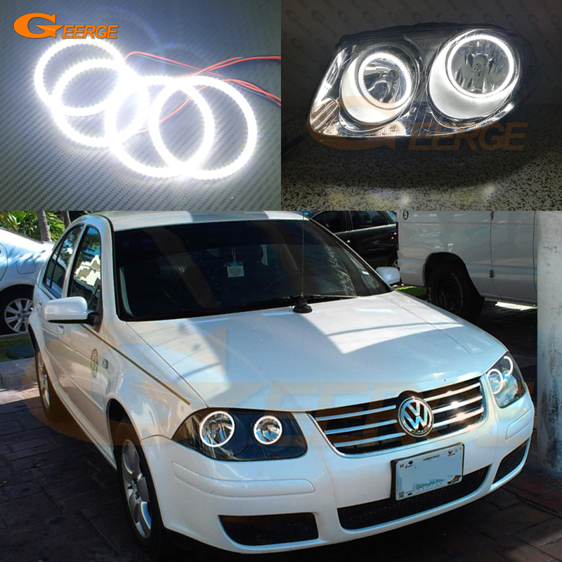 For Volkswagen VW Jetta City MK4 2007 2008 2009 Excellent DRL Ultra bright illumination smd led Angel Eyes kit halo rings angel city