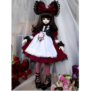 NEW 1/4 SD BJD Doll Clothes Include Dress, headdress and Stocking,BJD Clothes Dresses for Dolls 1/4,Fashion Doll Accessories