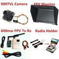 New Fpv Kit Combo System 900TVL Camera 5.8Ghz 600mw 48CH TS832 transmitter RC832h Snow Monitor holder for Rc airplane