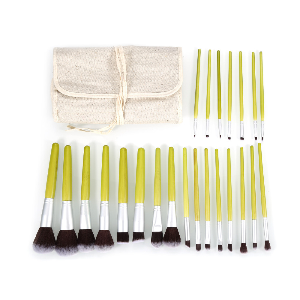 Pro 23pcs Make up Brushes Set Natural Bamboo Handle Blending Makeup Brush Hot Cosmetics Tool Kit Powder Brushes For Women 5pcs set metal handle makeup brushes set cosmetics brushes blending makeup brush