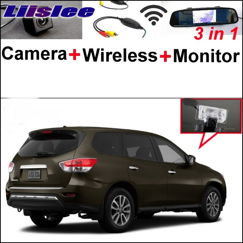 Liislee For Nissan Pathfinder R52 2013~2015 3 in1 Special Camera + Wireless Receiver + Mirror Monitor Easy DIY Parking System