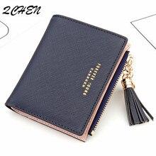 Women Wallet Small Cute Tassel Wallets Women Short Leather fashion Women Wallets Zipper Purses  Female Purse Clutch 176