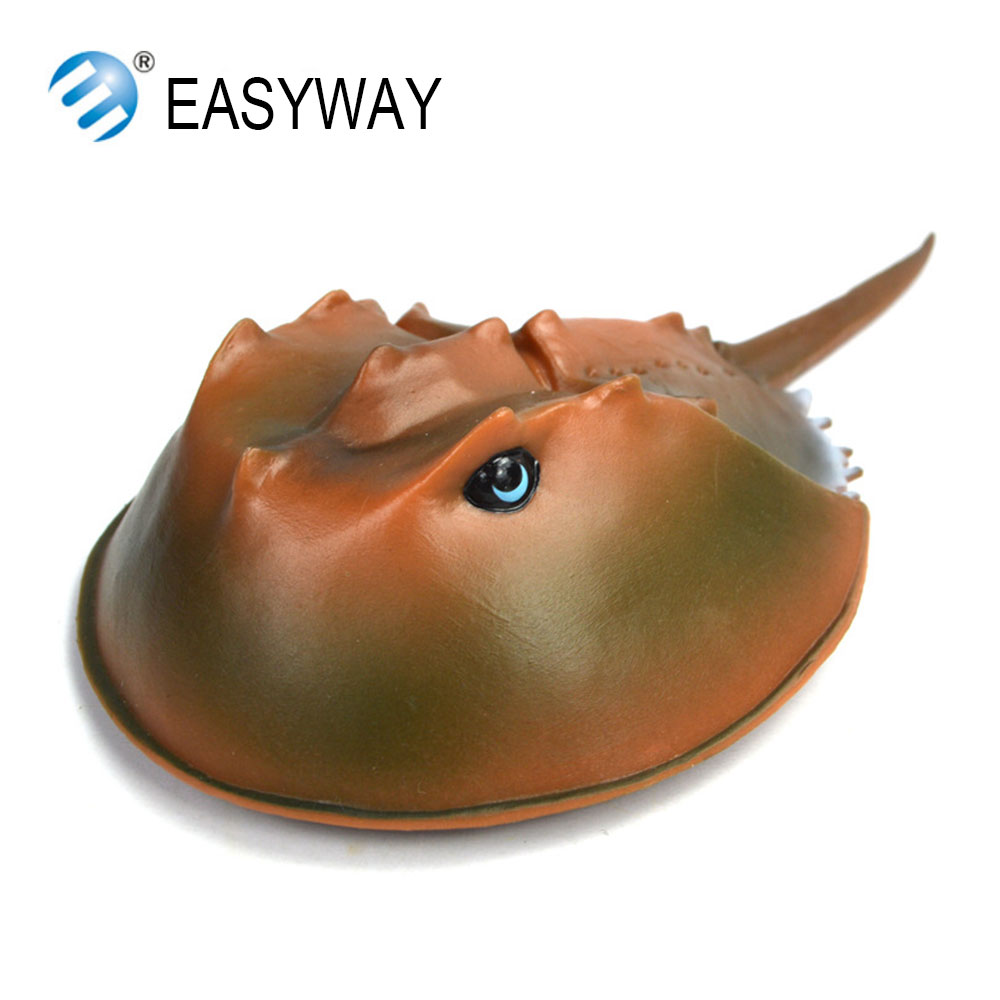 EASYWAY Original Limulidae Sea Life Toys Action Figure Limulus Polyphemus Model Aquatic Creatures Horseshoe Crab Kids Gift Toys mr froger carcharodon megalodon model giant tooth shark sphyrna aquatic creatures wild animals zoo modeling plastic sea lift toy