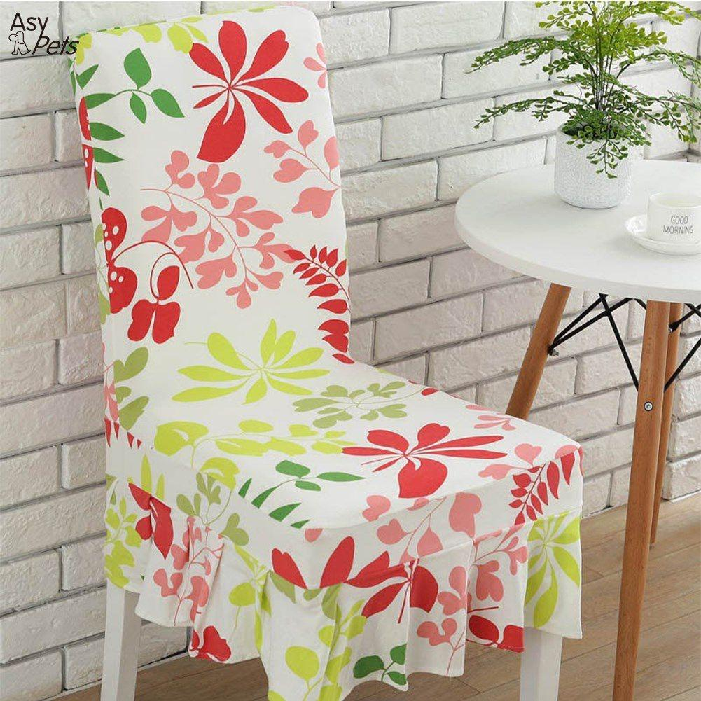 SaiDeng Stylish Anti-Acarien Elastic Chair Cover Wedding Banquet Hotel Restaurant Household Decoration-30