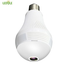 LEDGLE E27 LED Bulb Lamp Wireless IP Camera Wifi 960P Panoramic Fish Eye Home Security CCTV Camera 360 Degree Night Vision
