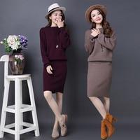 Autunno E Nuovo Modello di Marea di Modo Twinset Maglione Coreano abito-vestito di Lavoro A Maglia Indumento Dell'anca del Pacchetto Tailleur Donna All'ingrosso