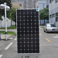 Panel słoneczny klasy 350W 36v monokrystaliczny 5 sztuk 24v bateria słoneczna domowy System zasilania energią słoneczną 1750w 1.75KW dach domu z siatki RV