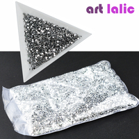 20000pcs 1.5mm New 2017 Glitter Crystal Flat Back Rhinestones Non Hot Fix 3D Nail Decorations Acrylic UV Gel Tips