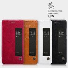 """Huawei P10 Plus Flip Case Nillkin Qin Série PU Couverture En Cuir Flip Case Pour Huawei P10 Plus Avec Fenêtre d'affichage 5.5 """"téléphone"""