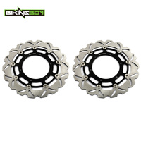 BIKINGBOY Front Brake Discs Rotors Disks XVS 950 V Star / Tourer 09 10 11 12 13 14 XVS950 A MIDNIGHT STAR / SE Motorcycle Set