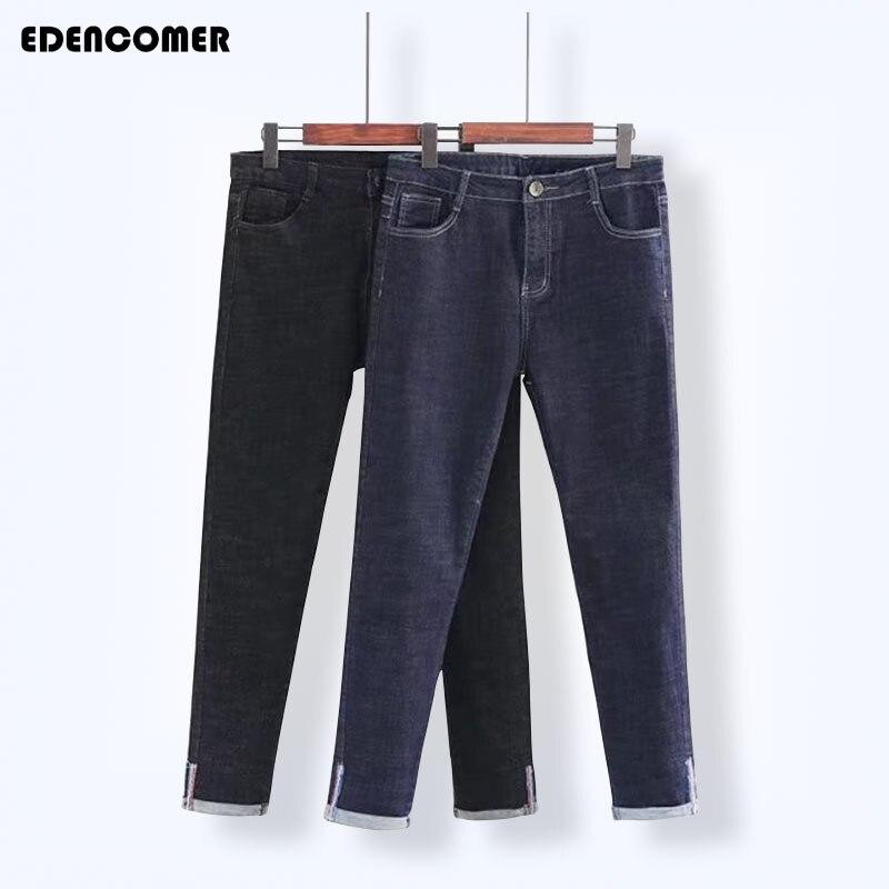 Plus Size 4XL 5XL Denim Women's Jeans 2017 Autumn New Large Size Blue Solid Elastic High Waist Fashion Female Pencil Pants Jeans смартфон highscreen fest xl pro blue