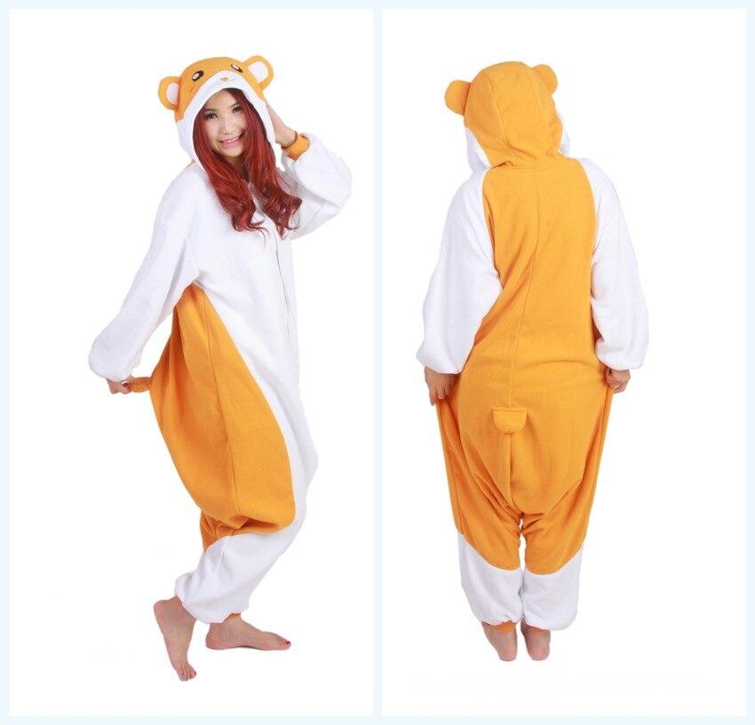 Animale del fumetto Sveglio Hamtaro/Trotto Hamtaro Criceto Morbido Pigiama Anime Del Partito di Cosplay Costume Adulto Tutina Da Notte pigiama