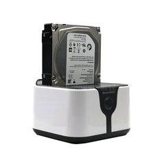 Док станция для жестких дисков 2 лотка sata 25/35 дюйма макс