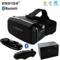 Virtual Reality VR Shinecon 3D Glasses Video Head Mount Google Cardboard 3D Movies Game For 3.5-6.0 inch Phone+Bluetooth Gamepad