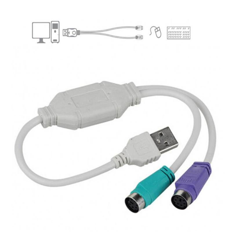 USB To PS/2 Cable Adapter Converter Mouse Keyboard Converter Adapter For Any PC Laptop SD