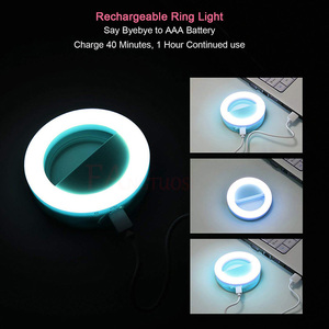 Image 5 - FANGTUOSI Selfie Ring Light Portable Flash Led Camera Phone Photography Enhancing Photography USB Charge Ring Light for iPhone