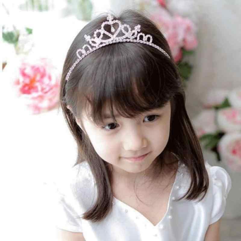 Bebê hairband tiara de cristal hairband criança menina nupcial strass princesa coroa festa accessiories princesa baile coroa headwear
