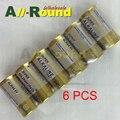 Envío gratis 6 unids/lote batería 4LR44 6 V alcalina batería batería 4A76 láser pluma cosmética tapón de la Corteza