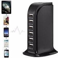Universal 7A 6 Ports USB Wall Charger Travel Plug Desktop USB HUB Splitter Multi Port Rapid