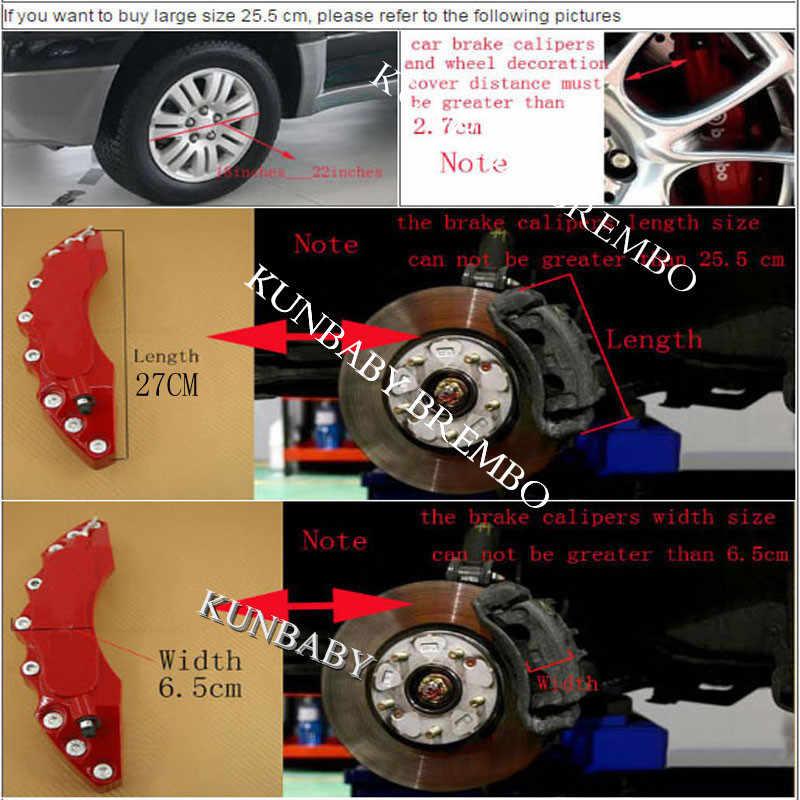 プラスチックブレーキキャモデル 3 紙白ブレンボロゴ車のスタイリングの装飾メルセデスベンツ BMW アウディ起亜日産