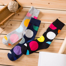1 Pair/Lot Autumn Winter New Socks Big Dot Men Casual Comfortable In The Tube Tide Cotton Unisex