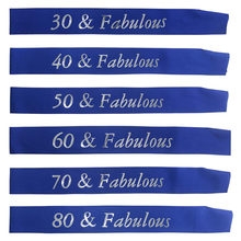 30 40 50 60 70 80 & Fabulous Birthday Sash for Women Men 30th 40th 50th 60th 70th 80th Birthday Party Decorations Supplies(China)