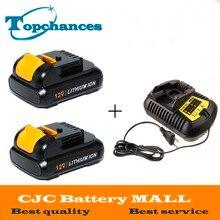 2PCS High Quality power tool Battery For Dewalt 12V 2 0Ah 2000mah MAX Li ion DCB120