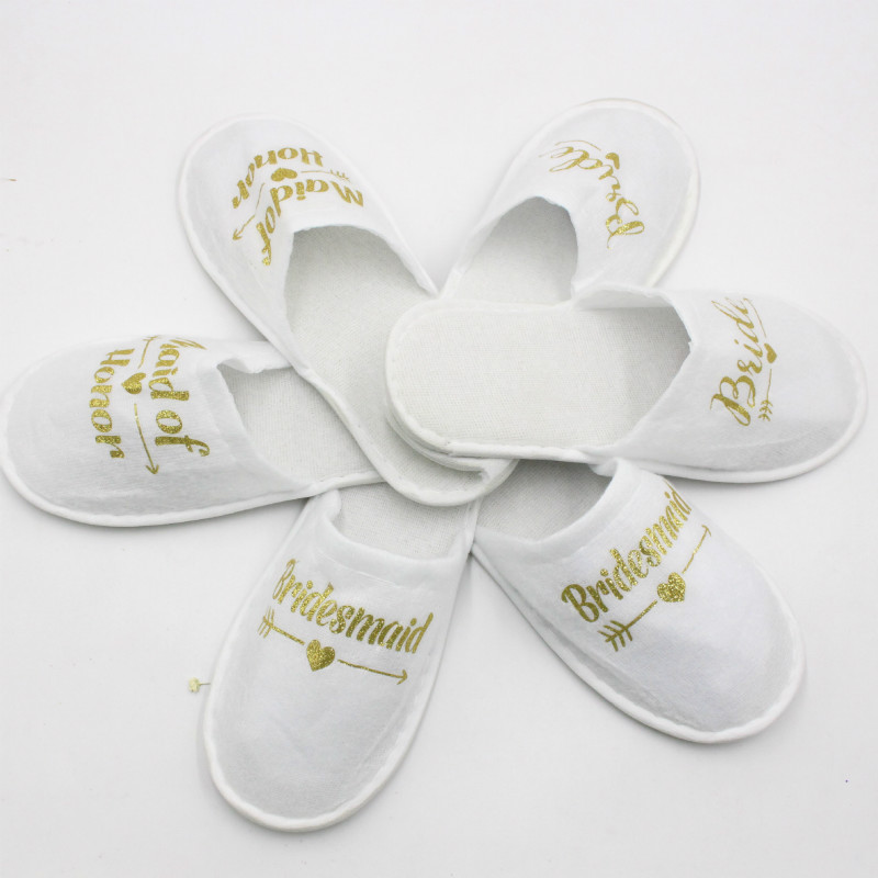 Bride Slippers Wedding-Party-Supplies Favors Hen Night Gift Disposable Spa-Day 1pair