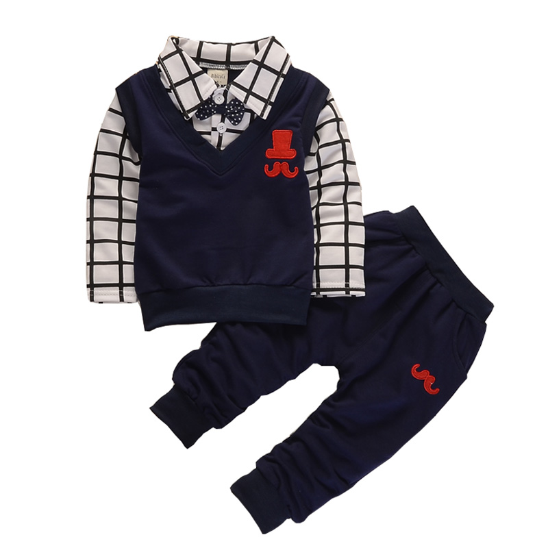 BibiCola spring autumn Baby boy clothing sets products kids clothes set boys high quality cotton long sleeve t-shirts+pants set cotton baby boy clothes spring baby clothing sets roupas bebe long sleeve children clothing fashion kids clothes t shirt pants