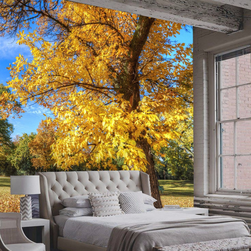 Custom 3D Photo Wallpaper Wall Painting Forest Park Nature Landscape Living Room Bedroom Background Mural Wall Paper De Parede custom photo wall paper 3d living room tv background wall decor painting new york cityscape mural wallpaper bedroom