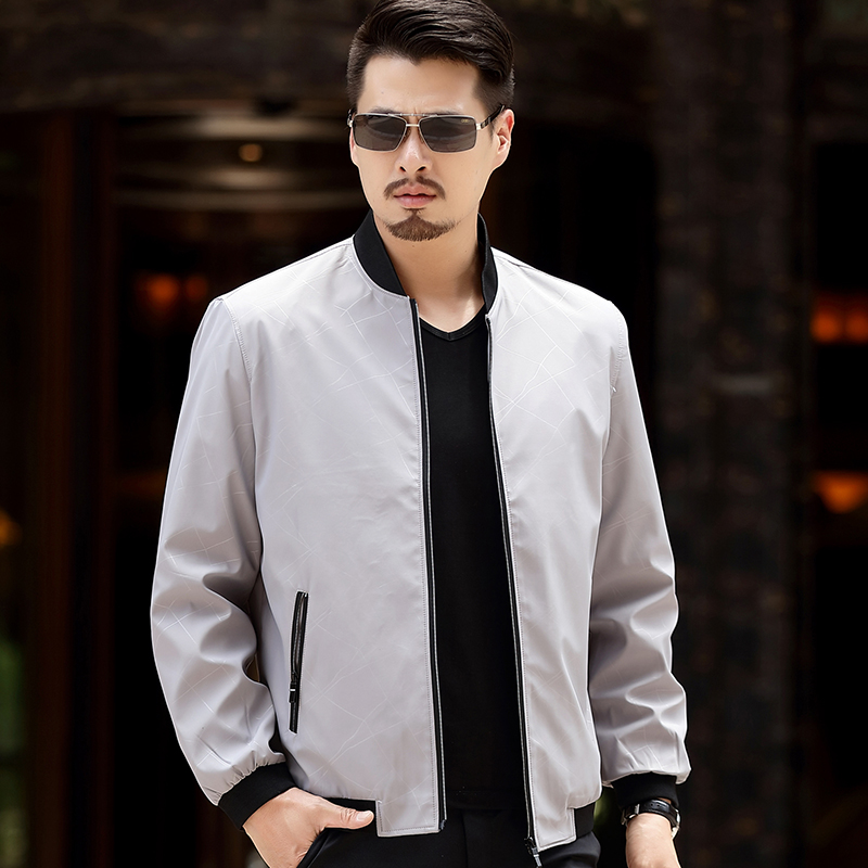 2017 Spring Autumn Men Jacket Male Overcoat Casual Solid Jacket Slim Fit Stand Collar Zipper Men Jackets Coat 5XL