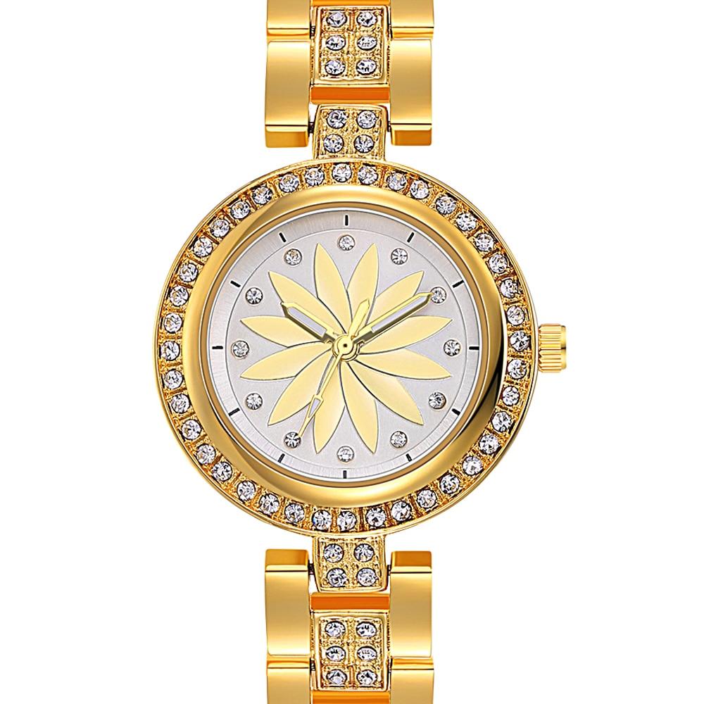 New arrival Elegant Wrist Watches for Women Luxury Quartz Crystal Dial Alloy Bracelet Wholesale price free drop shipping 1