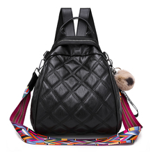 New designer fashion Diamond lattice ladies backpack mini soft touch multi-function small and women shoulder bag
