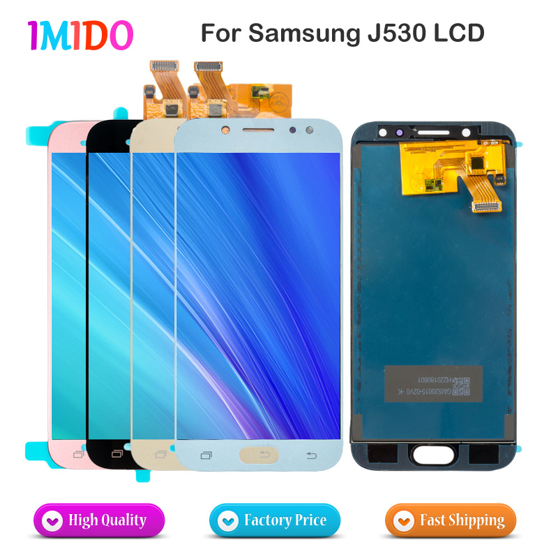 20Pcs/Lot Adjustable LCD For Galaxy J530 For Samsung J5 2017 Display Touch Screen Digitizer J5 Pro J530 J530F LCD 5.2'' inch