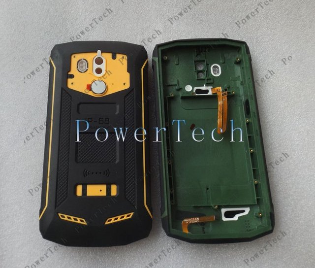 Blackview BV5800 Pro BV5800 Battery Cover Shell Case with Microphone and Fingerprint Sensor Flex Cable 1