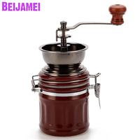 BEIJAMEI High Quality Ceramic manual coffee grinding mill household small grinder hand coffee machine