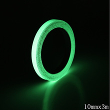 1roll 3M Green Luminous Tape Glow In The Dark Self-adhesive Tape Night Vision Safety Warning Security Stage Home Decoration