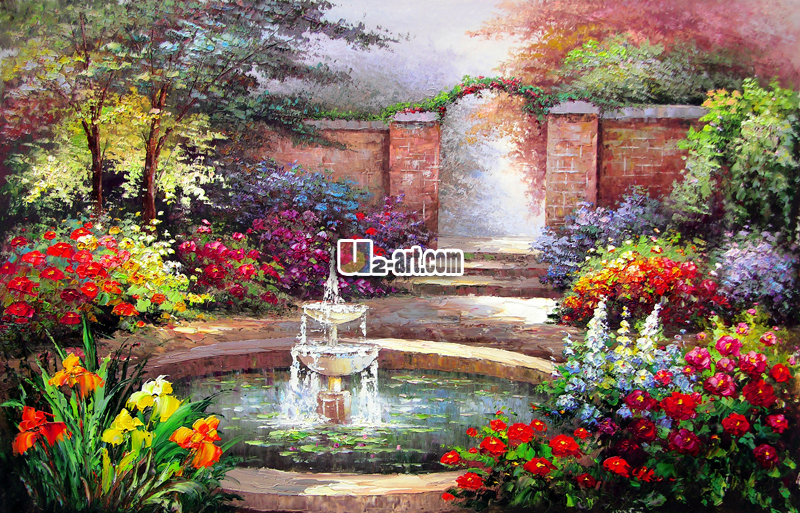 Landscape Oil Painting Little Flowers Garden Paintings For Bedroom Wall  Decoration Canvas Prints Gifts In Painting U0026 Calligraphy From Home U0026 Garden  On ...
