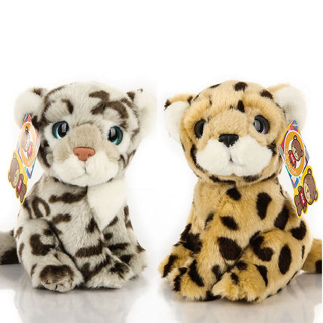 Snow Leopard Plush Stuffed Animal Peluche Miniature Plush Kids Soft