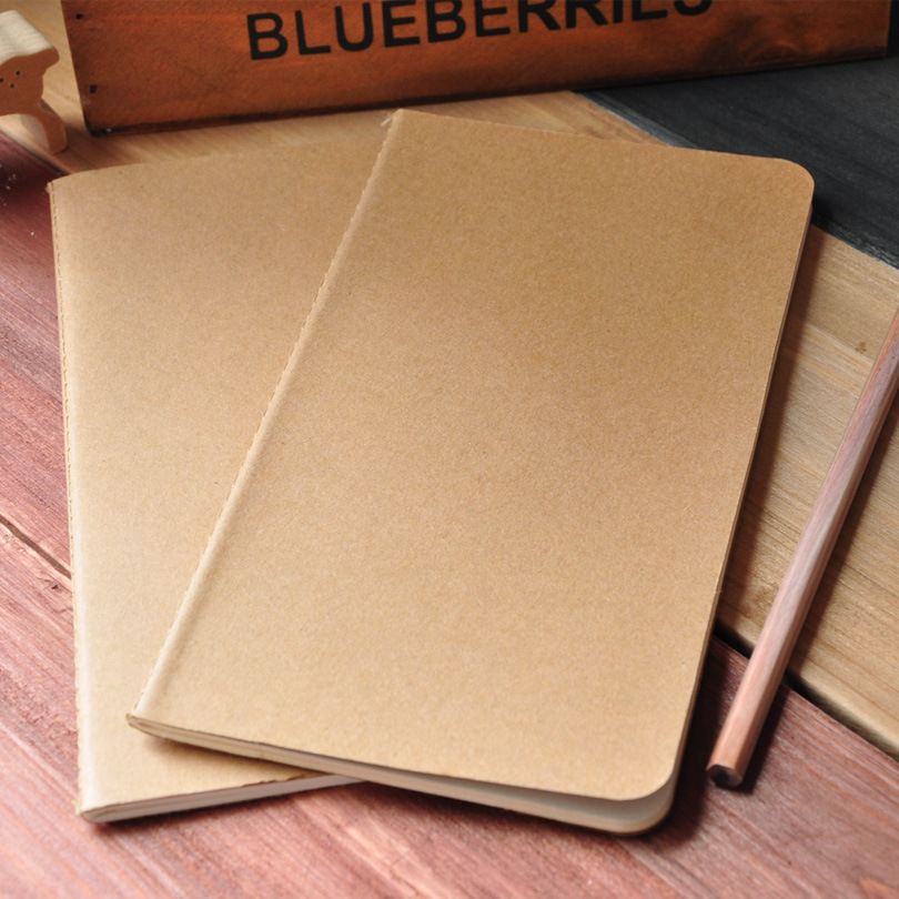 5 Pcs/lot Korea Creative Retro Wholesale Kraft Paper Notebook Blank Notebook Pages Customized System Dowling Free Shipping 1463