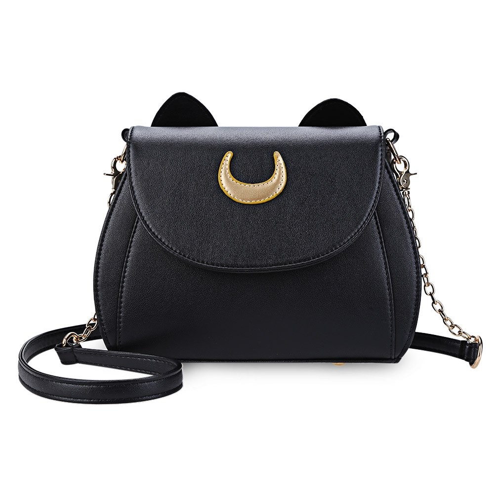 Kawaii-Summer-Sailor-Moon-Ladies-Handbag-Black-Luna-Cat-Shape-Chain-Shoulder-Bag-PU-Leather-Women (1)