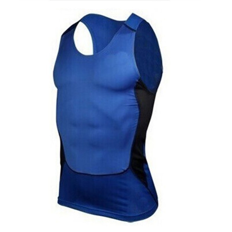 100pcs/lot Men Moisture Wicking Vest Clothes Compression Tight Base Layer Fitness Workout Vest Tank Tops