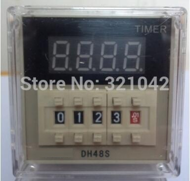 Digital time relay DH48S-1Z AC 220V time delay relay with the socket zys48 s dh48s s ac 220v repeat cycle dpdt time delay relay timer counter with socket base 220vac
