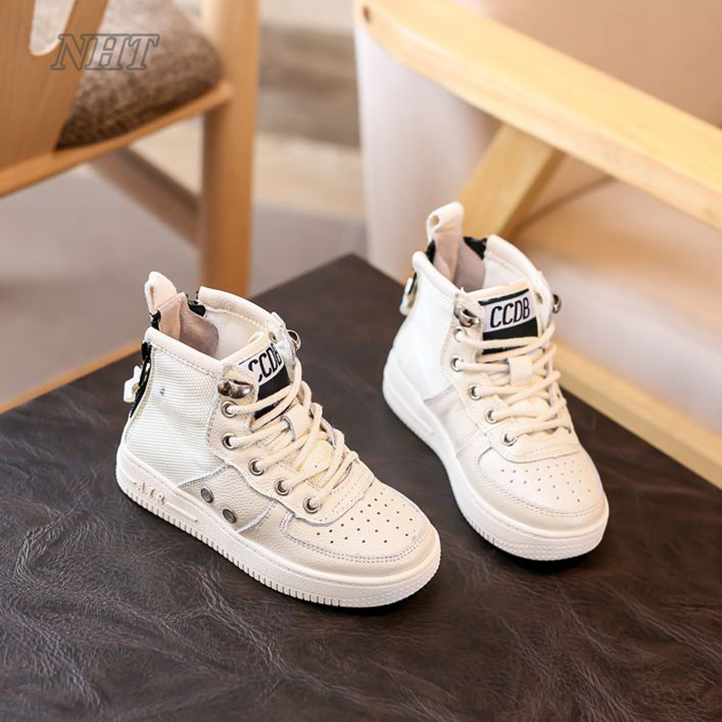 amazing Nauhutu leather boots boys autumn girls winter new shoes air sneaker for kids perforated breathable shoe white black kelme 2016 new children sport running shoes football boots synthetic leather broken nail kids skid wearable shoes breathable 49