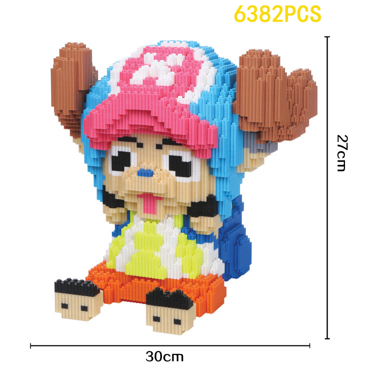 Japan hot Anime image nanoblock one piece tony tony Chopper micro diamond building block 27cm model bricks toys for kids gifts creator hot world famous city funland micro diamond building block castle nanoblock assemble model bricks toys collection gifts
