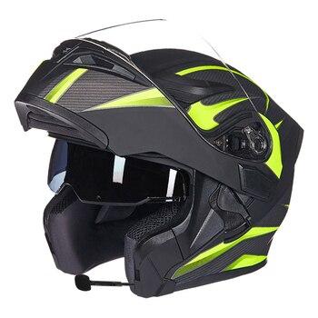 GXT dual lens open face motorcycle helmet full-cover flip up motorbike helmets wiht Anti-fog lens seasons Capacete