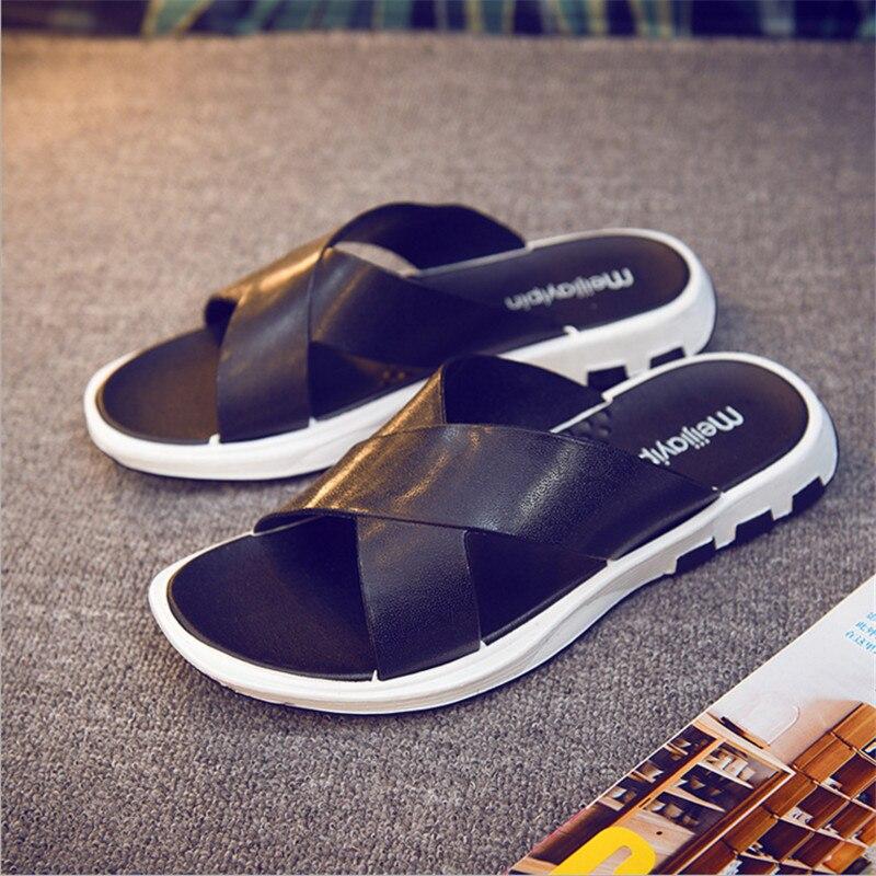 Men's Slippers Korean Style Fashion Flip Flops Male Beach Shoes Summer Slipper  Non-slip Men Sandals Massage Slippers