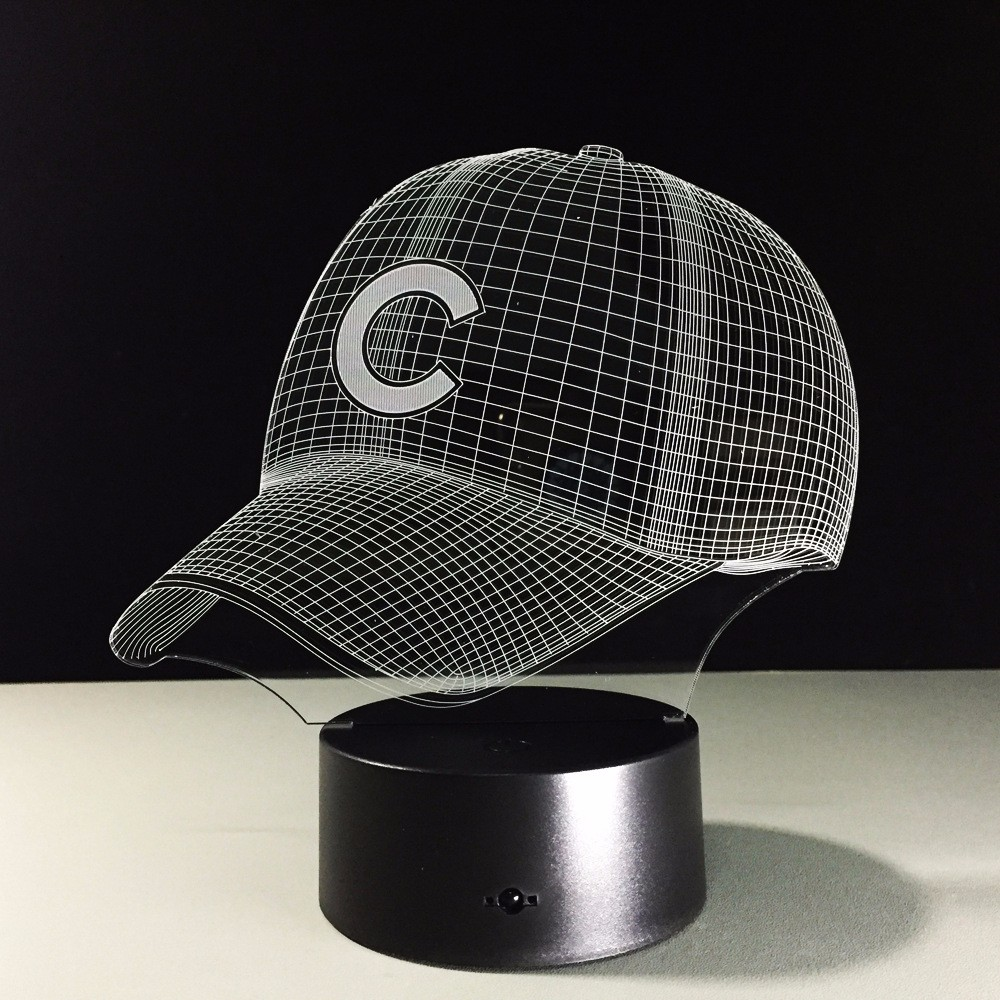 Led mlb chicago cubs baseball hat night light touch cap helmet led mlb chicago cubs baseball hat night light touch cap helmet desk lamp usb 3d table lamps decoration for kid gifts toys in novelty lighting from lights geotapseo Image collections