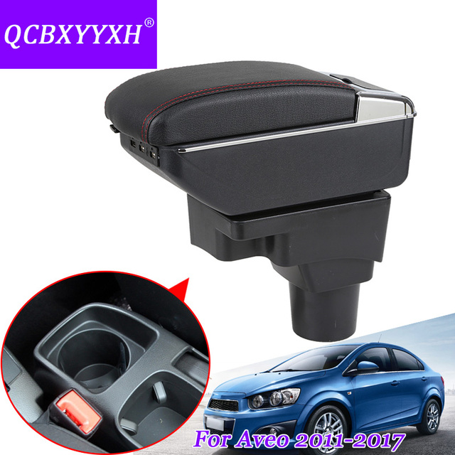 Qcbxyyxh Car Armrest Central Store Content Storage Box With Cup