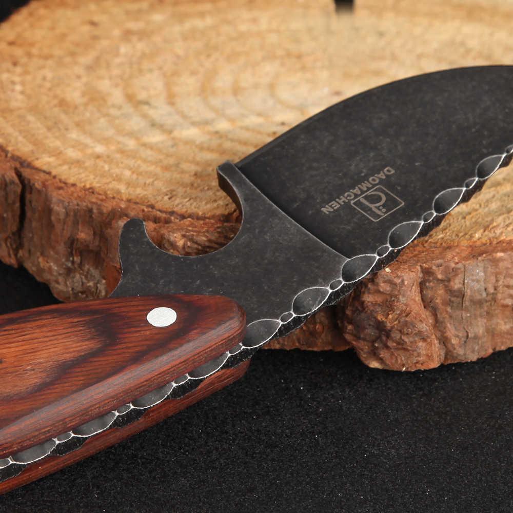 DAOMACHEN التكتيكية سكين صيد في الهواء الطلق التخييم البقاء على قيد الحياة السكاكين متعددة أداة الغوص والحجر غسل شفرة شحن سريع مجاني
